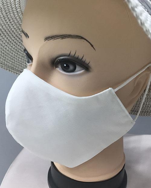 Pralne maske iz blaga v eni barvi