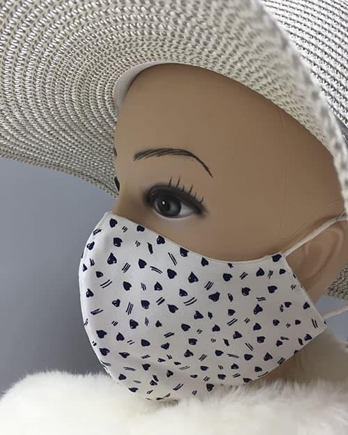 Pralne maske iz blaga z vzorcem