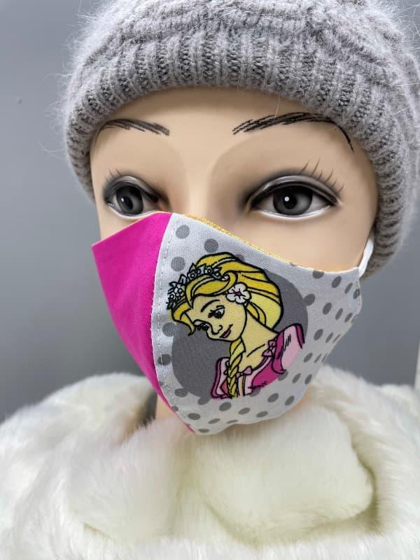 Pralne maske iz blaga z vzorcem in regulacijo